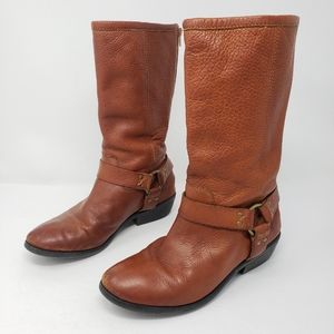 Frye Phillip Harness Tall Leather Boots Youth 3.5
